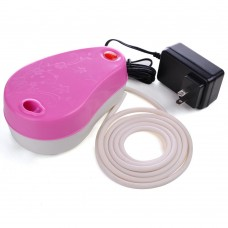 Airbrush Pink Mini Air Compressor w/ Built-in Holder