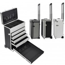 Pro Rolling Train Cosmetic Makeup Case Jewelry Drawers