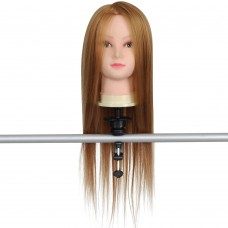 "26"" Mannequin Head w/ Synthetic Hair & Holder"