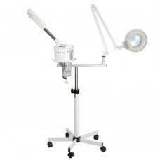 2 in 1 Salon Spa Ozone Facial Steamer w/ Magnification Lamp